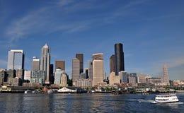Línea de costa de Seattle Imagen de archivo libre de regalías
