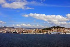 Línea de costa de Vigo fotografía de archivo
