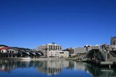 Línea de costa de Wellington, Nueva Zelandia. Imagen de archivo libre de regalías