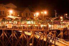 Línea de costa del puerto de la barra Fotografía de archivo libre de regalías
