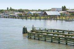 Línea de costa en Chincoteague, Virginia foto de archivo libre de regalías