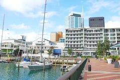 Línea de costa en la ciudad de Auckland Foto de archivo libre de regalías