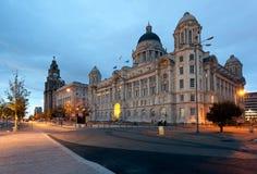 Línea de costa en Liverpool Fotos de archivo libres de regalías