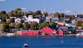 Línea de costa, Lunenburg, Nueva Escocia, Canadá fotos de archivo libres de regalías