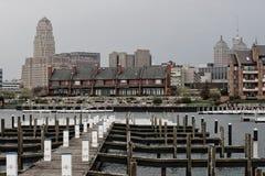 Línea de costa urbana Imagen de archivo libre de regalías