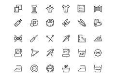 Línea de costura iconos 2 del vector Fotos de archivo libres de regalías