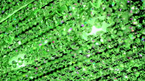 Línea de cristal transparente verde, almacen de metraje de vídeo