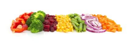Línea de diversas verduras foto de archivo libre de regalías