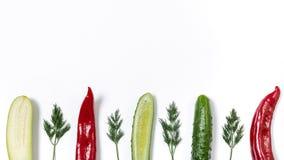 Línea de diversas verduras fotografía de archivo libre de regalías