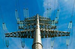 Línea de electricidad Foto de archivo libre de regalías