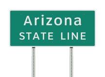 Línea de estado de Arizona señal de tráfico del verde libre illustration