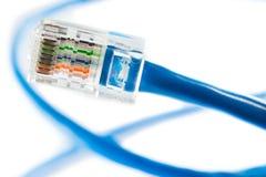 Línea de Ethernet Foto de archivo libre de regalías