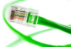 Línea de Ethernet fotografía de archivo