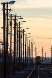 Línea de ferrocarril Fotografía de archivo libre de regalías