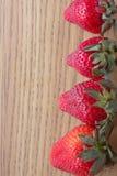 Línea de fresas Foto de archivo libre de regalías