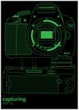 Línea de la cámara Foto de archivo libre de regalías