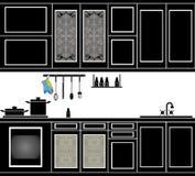 línea de la cocina Fotos de archivo