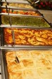 Línea de la comida fría Imagenes de archivo