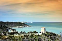 Línea de la costa de Gargano Imagen de archivo libre de regalías