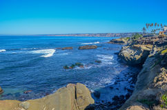 Línea de la costa de San Deigo, California Fotos de archivo