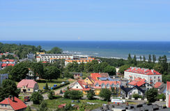 Línea de la costa en el mar Báltico Imagen de archivo