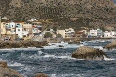 Línea de la costa en Paleochora crete fotografía de archivo libre de regalías