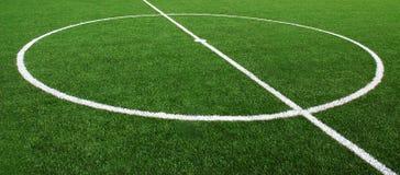 Línea de la hierba del estadio del campo de fútbol del fútbol Fotografía de archivo libre de regalías