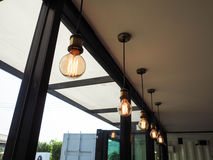Línea de la lámpara fotografía de archivo libre de regalías