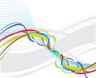 Línea de la onda del arco iris Fotos de archivo