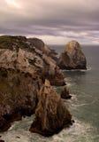 Línea de la orilla del océano Foto de archivo libre de regalías