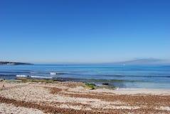 Línea de la playa Fotos de archivo