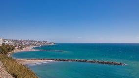 Línea de la playa azul Fotografía de archivo