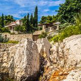 Línea de la playa croata de la costa Fotografía de archivo libre de regalías