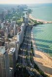 Línea de la playa de Chicago Imagenes de archivo