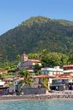 Línea de la playa de Dominica Fotos de archivo