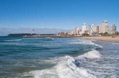 Línea de la playa de Durban Foto de archivo