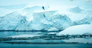 Línea de la playa de la Antártida Foto de archivo