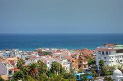 Línea de la playa de la isla de Tenerife. Fotos de archivo libres de regalías