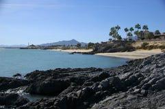 Línea de la playa de la roca de la lava, San Felipe Imagen de archivo libre de regalías