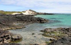 Línea de la playa de las Islas Gal3apagos Fotografía de archivo libre de regalías