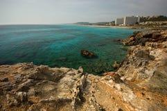 Línea de la playa de Menorcan Imagenes de archivo
