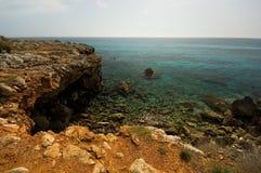 Línea de la playa de Menorcan Imagen de archivo libre de regalías