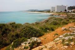 Línea de la playa de Menorcan Foto de archivo libre de regalías