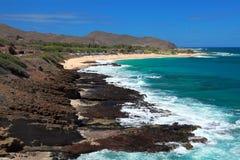 Línea de la playa de Oahu fotos de archivo libres de regalías