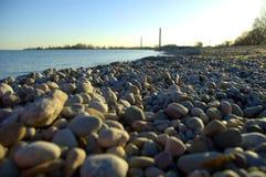 Línea de la playa de Pebbled foto de archivo libre de regalías