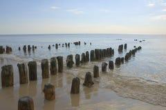 Línea de la playa de Sylt Fotos de archivo libres de regalías