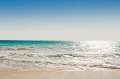 Línea de la playa del Caribe imagenes de archivo