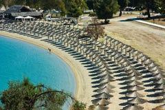 Línea de la playa del hotel Fotos de archivo