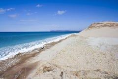 Línea de la playa del lago Michigan imagen de archivo