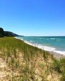 Línea de la playa del lago Michigan Imagen de archivo libre de regalías
